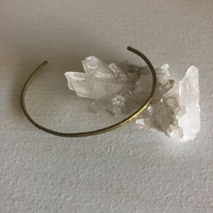 Handmade Brass Thin Adjustable Bracelet